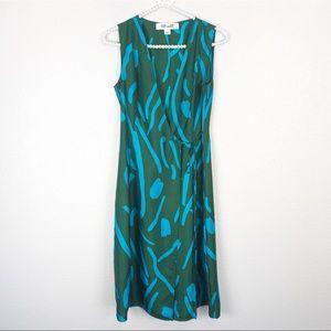 DVR Silk Side Tie Faux Wrap Dress 2
